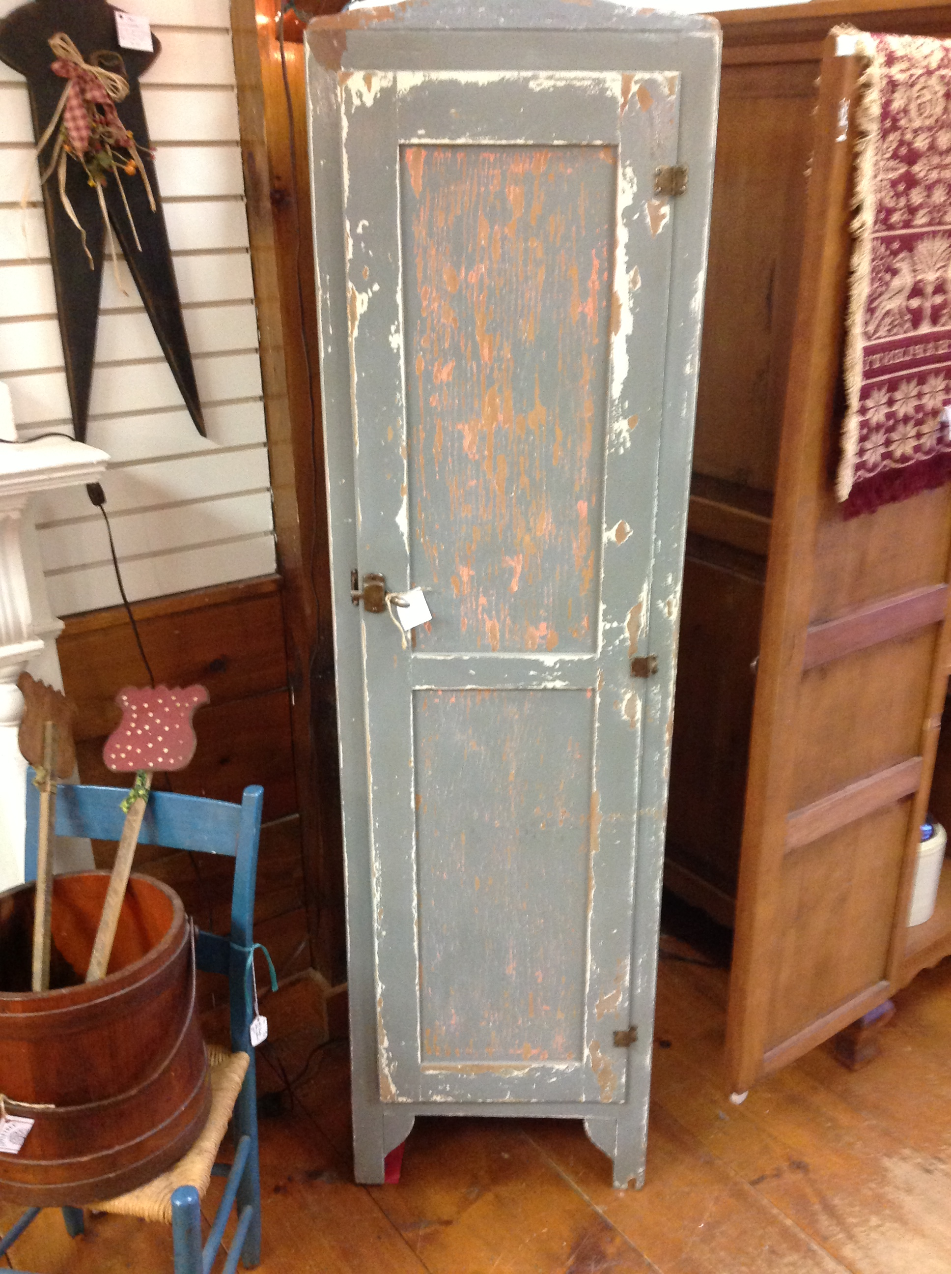 1000 images about aged 39 n 39 distressed furniture on for Blue distressed kitchen cabinets