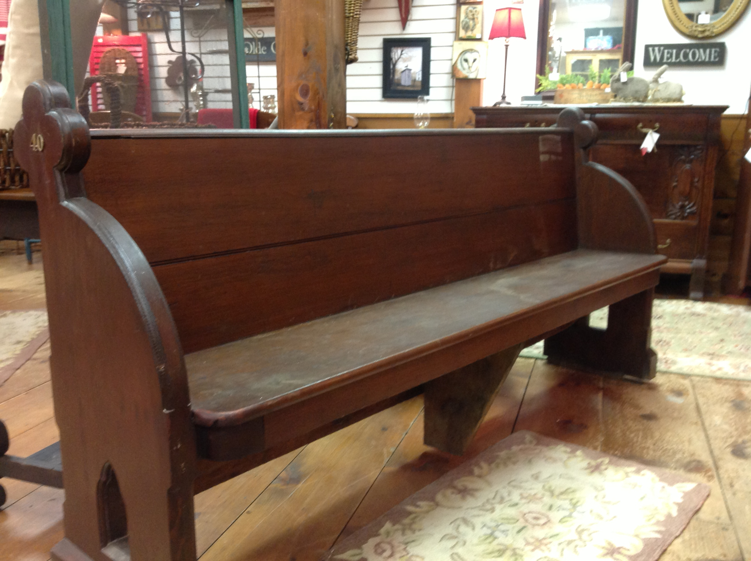 church pew appletree cottage antiques home. Black Bedroom Furniture Sets. Home Design Ideas
